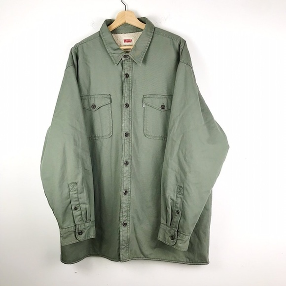 a28faa10d1 Levi s Other - Levi s Sherpa Fleece Lined Button Coat ...
